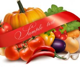 Vivid Vegetables design vector 02