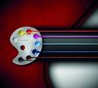 Watercolor palette vector 01