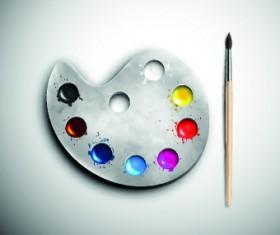 Watercolor palette vector 03