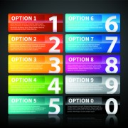 Link toWebsite numbered buttons vector 01