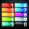 Website numbered Buttons vector 02