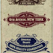 Link toVintage labels design vector set 01
