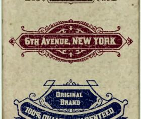 Vintage labels design vector set 01