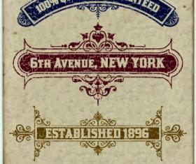 Vintage labels design vector set 05