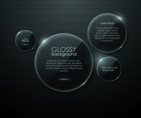 Transparent Glass shapes backgrounds 02