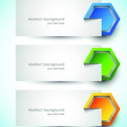 Link toAbstract creative banners vector set 01