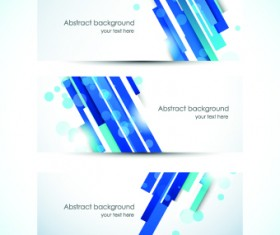 Abstract Creative banners vector set 02