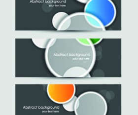 Abstract Creative banners vector set 03