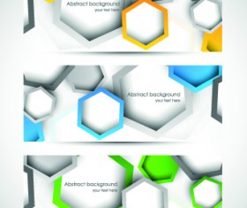 Abstract Creative banners vector set 04