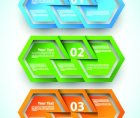 Abstract Creative banners vector set 05
