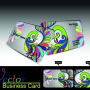Link toColor floral business cards vector 02
