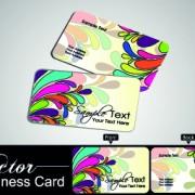 Link toColor floral business cards vector 03