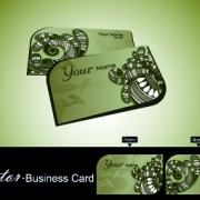 Link toColor floral business cards vector 05