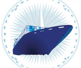 Container shipping design vector set 02