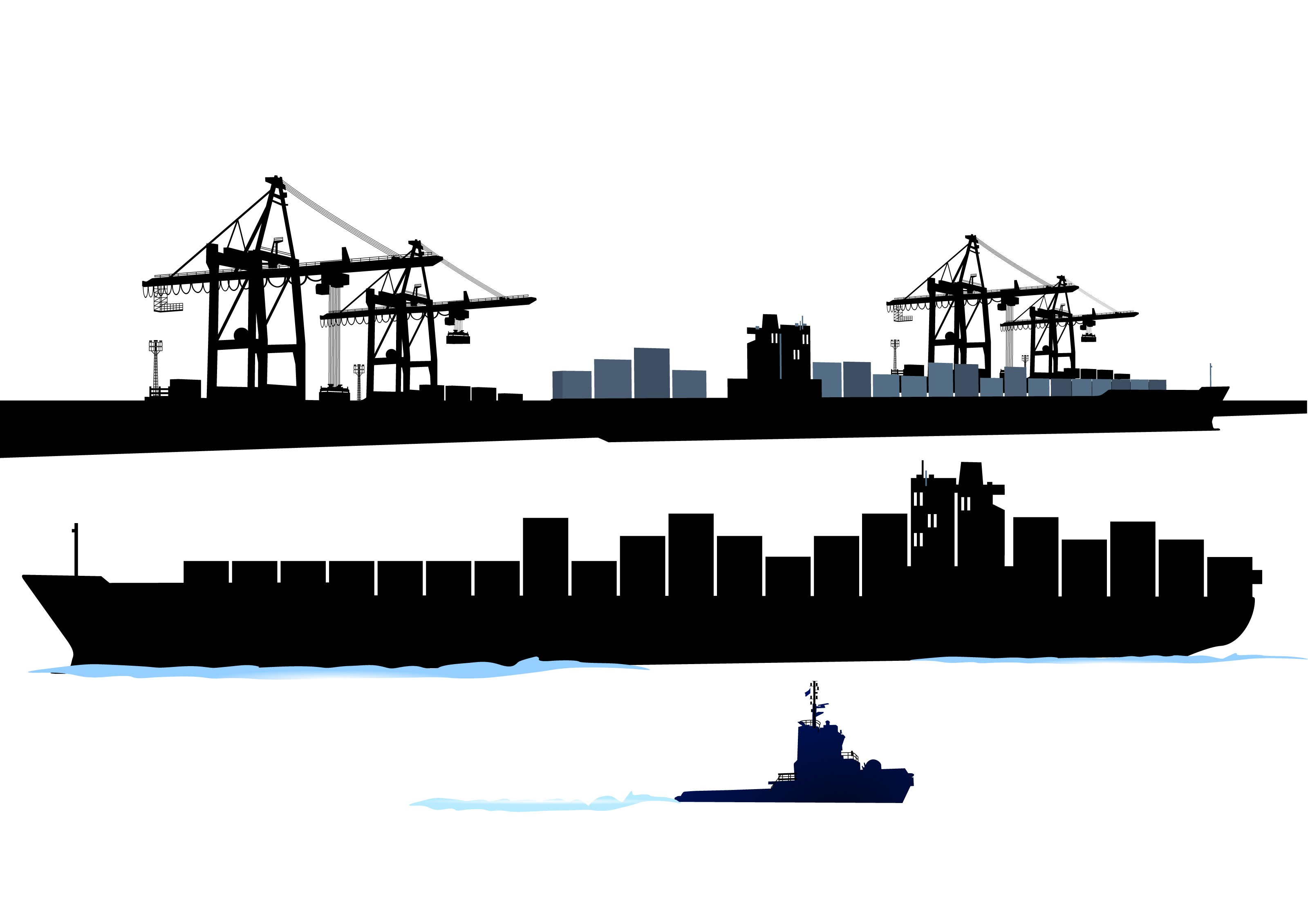 Cargo Ship Maritime Transport Container Ship Clip Art