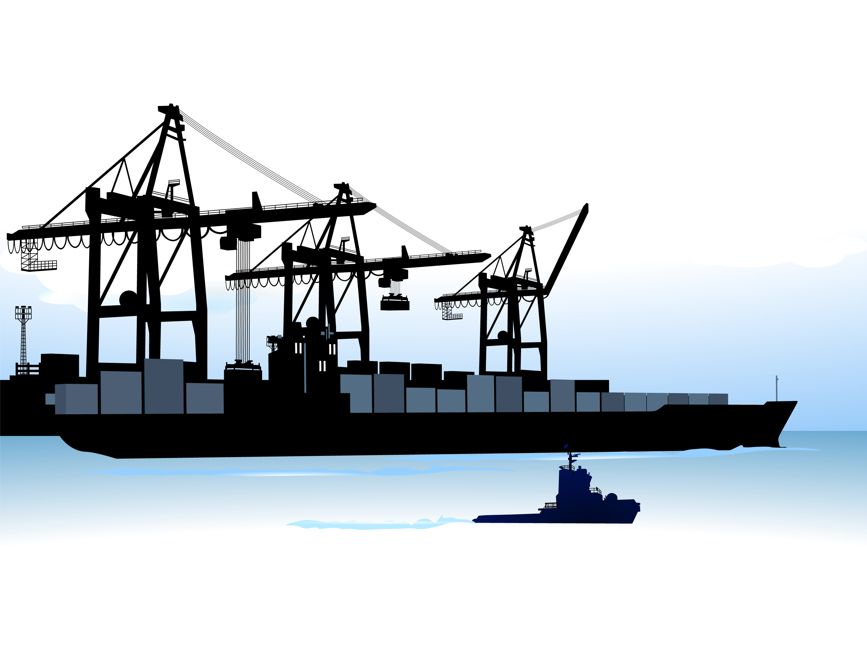 Container Shipping Design Vector Set 05 Over Millions