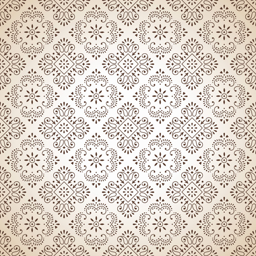 Classic Floral Background Vector 02 Over Millions