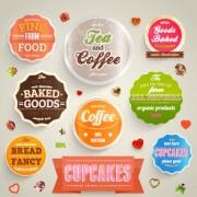 Link toVarious food label vector set 04