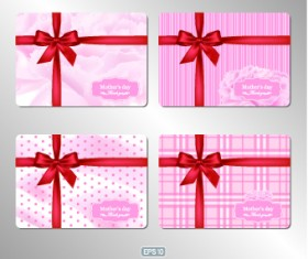 Pink gift card vector 01