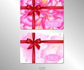 Pink gift card vector 02