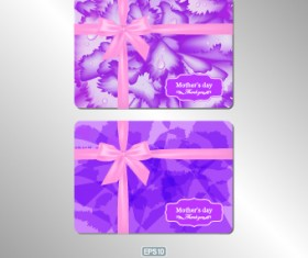 Pink gift card vector 03