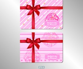 Pink gift card vector 04