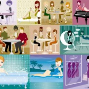 Link toIllustration of modern men and women 01 vector