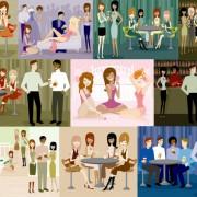 Link toIllustration of modern men and women 02 vector