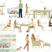 Link toElements of modern white-collar work and life vector