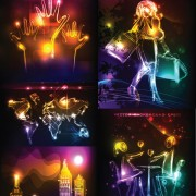 Link toColorful neon background vector art