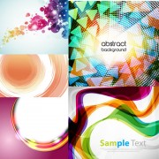Link toDynamic flow line backgrounds vector graphic
