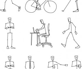 Simple lines of human action Vector