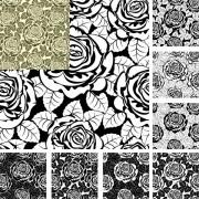 Link toRose decorative pattern background design vector
