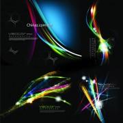 Link toElements of neon light background vector