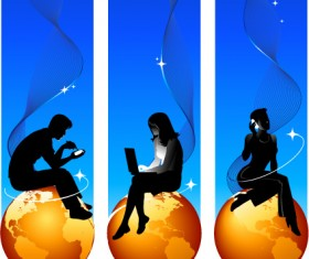 Elements of earth and people Vector