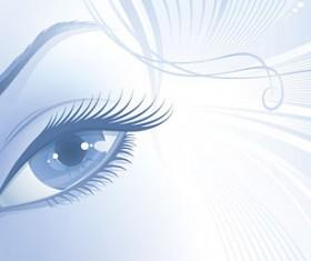 Elements of woman eyes Vector