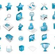Link toBlue 3d icon vector