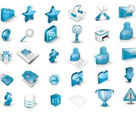 Blue 3D Icon vector