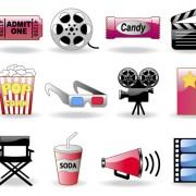 Link toShiny film icon vector