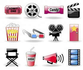 Shiny film icon vector