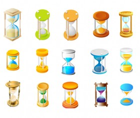 An hourglass icon vector vector