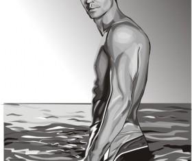 Water man Vector