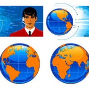 Link toEarth science and technology service vector