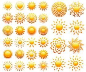 Sun Crystal icons vector