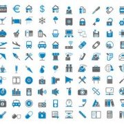 Link toBlue ash simple icons vector