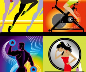 Fitness Series illustrator Vector