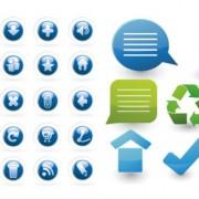 Link toBlue note icon vector