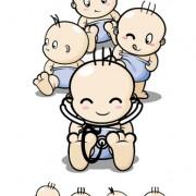 Link toCartoon baby role vector
