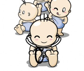 Cartoon baby role Vector