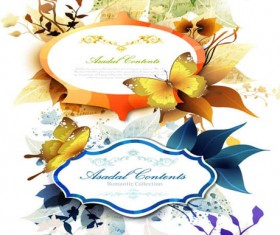 Fashion butterfly Border vector